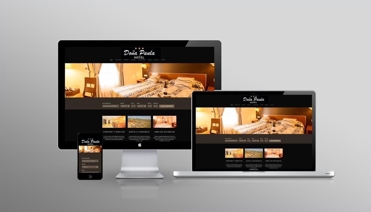 DISEÑO WEB HOTEL REKLAM PUBLICIDAD SORIA